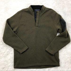 Exofficio Brown Green Pullover Sweater